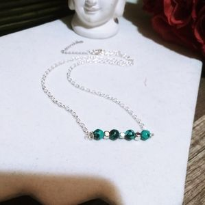 Nwt 925 Sterling Recon.Turquoise Bar Necklaces